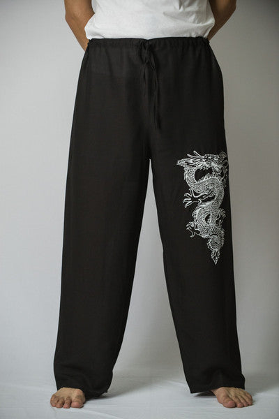 Mens Dragon Pants in Black