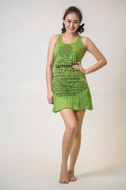Womens Harmony Tank Dress in Lime