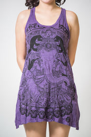 Womens Batman Ganesh Tank Dress in Purple