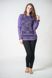 Unisex Tattoo Ganesh Hoodie in Purple