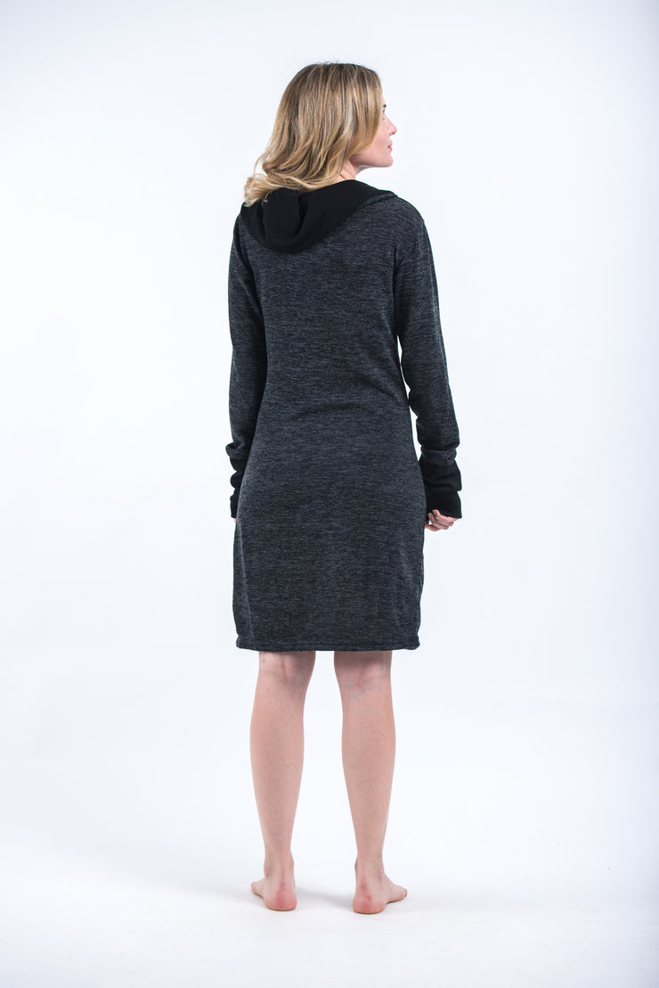 Pullover Hoodie Dress in Black
