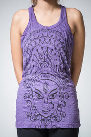 Womens Durga Tank Top in Purple