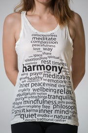 Womens Harmony Tank Top in White