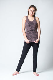 Womens Harmony Tank Top in Brown