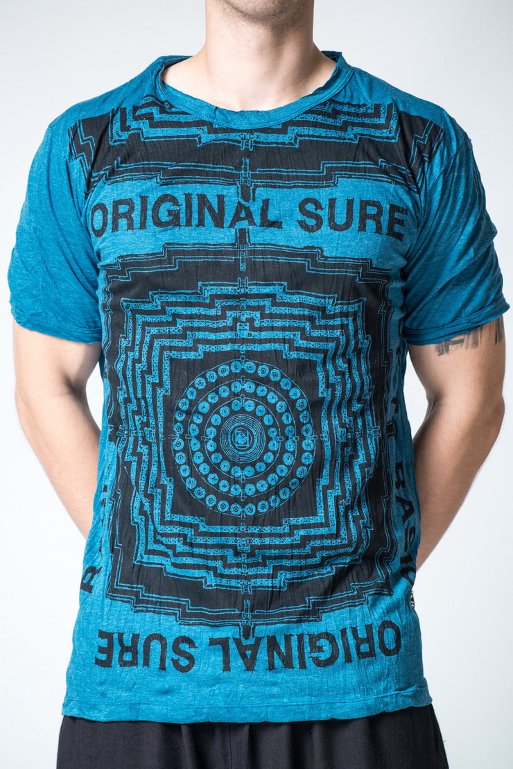 Mens Labyrinth T-Shirt in Denim Blue