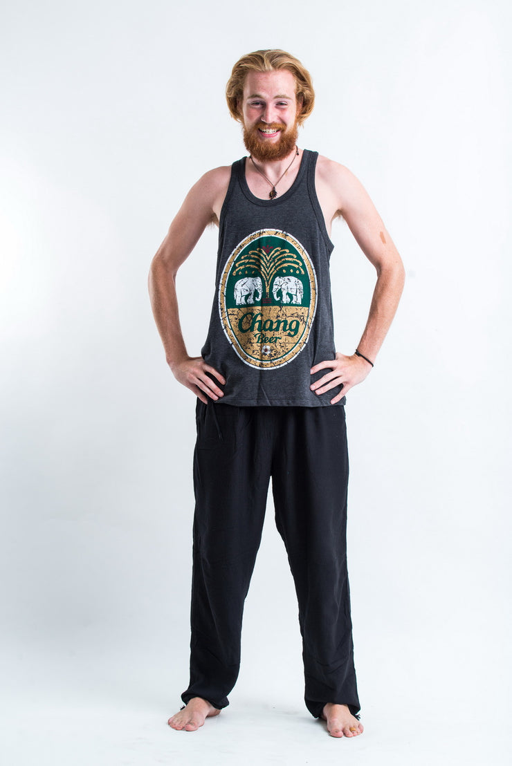 Vintage Style Chang Beer Tank Top in Black