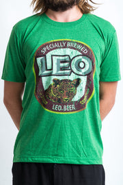 Vintage Style Leo Beer T-Shirt in Green