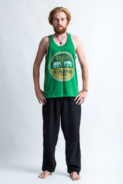 Vintage Style Chang Beer Tank Top in Green