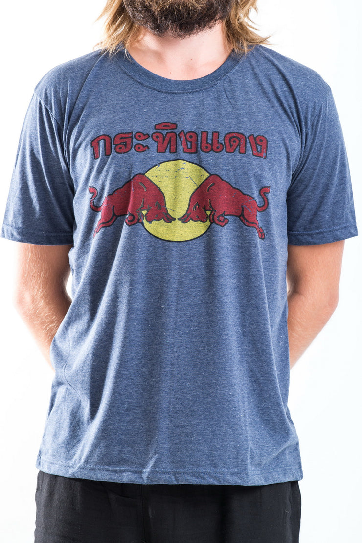 Vintage Style Red Bull T-Shirt in Denim Blue