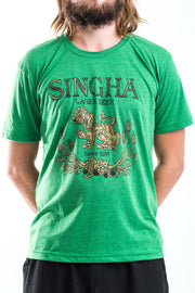 Vintage Style Singha Beer T-Shirt in Green