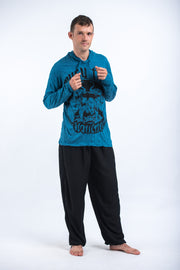 Unisex Muay Thai Fighting Hoodie in Denim Blue