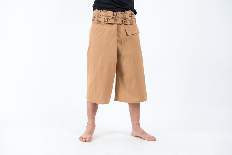 Unisex Cropped Thai Fisherman Pants in Cream