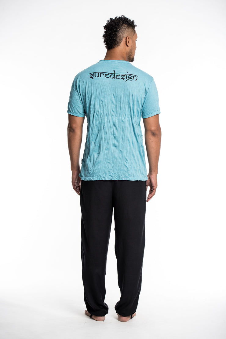 Mens Meditation Buddha T-Shirt in Turquoise