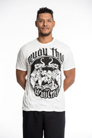 Mens Muay Thai Fighting T-Shirt in White