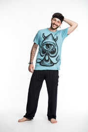 Mens Spades Eye T-Shirt in Turquoise