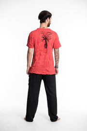 Mens Peace Tree T-Shirt in Red