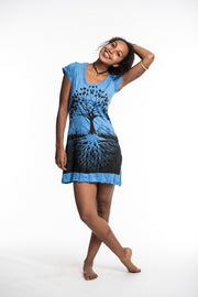 Womens Tree of Life Dress in Blue