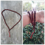 Tibetan Auburn Wooden Prayer Beads Mala