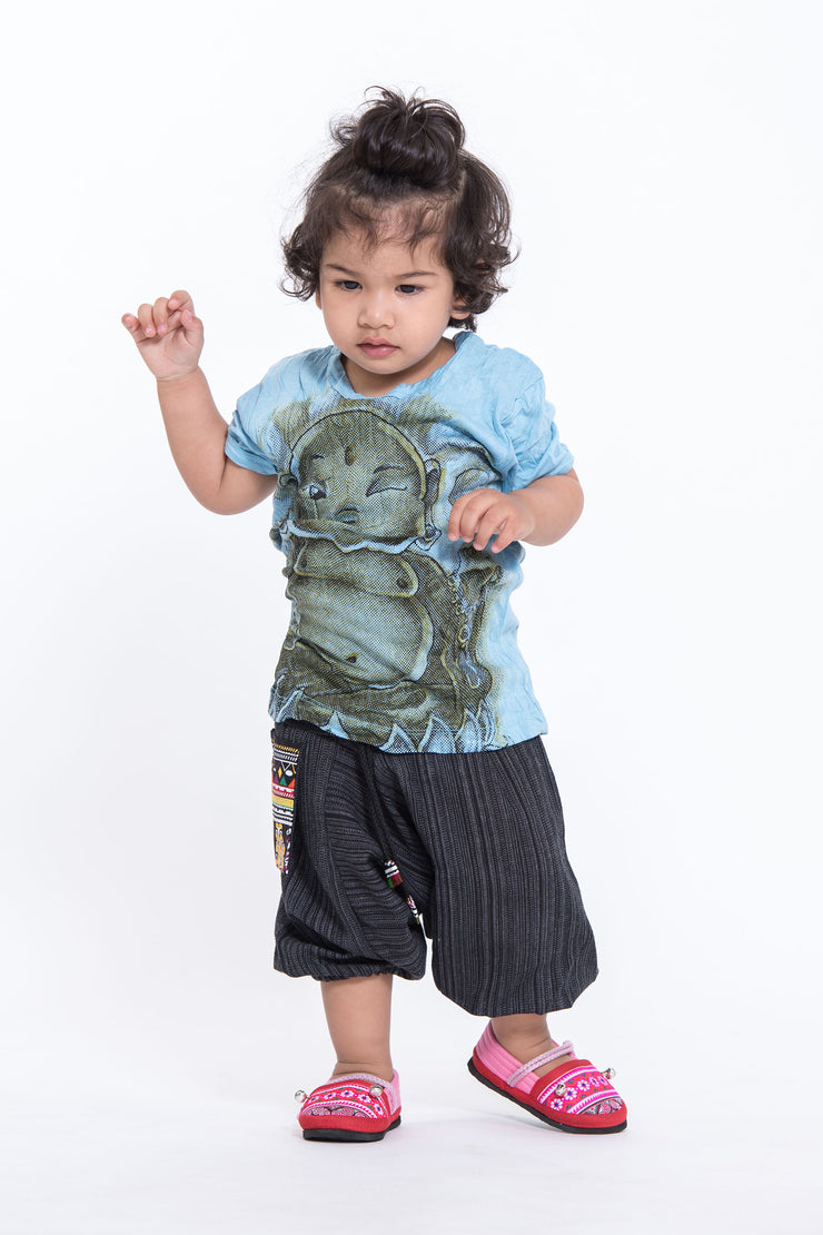 Kids Baby Buddha T-Shirt in Light Blue