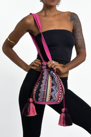 Tribal Bucket Bag in Pink