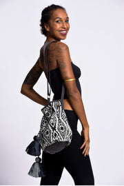Tribal Bucket Bag in Black