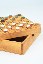 Hand Crafted Mini Wood Checkers
