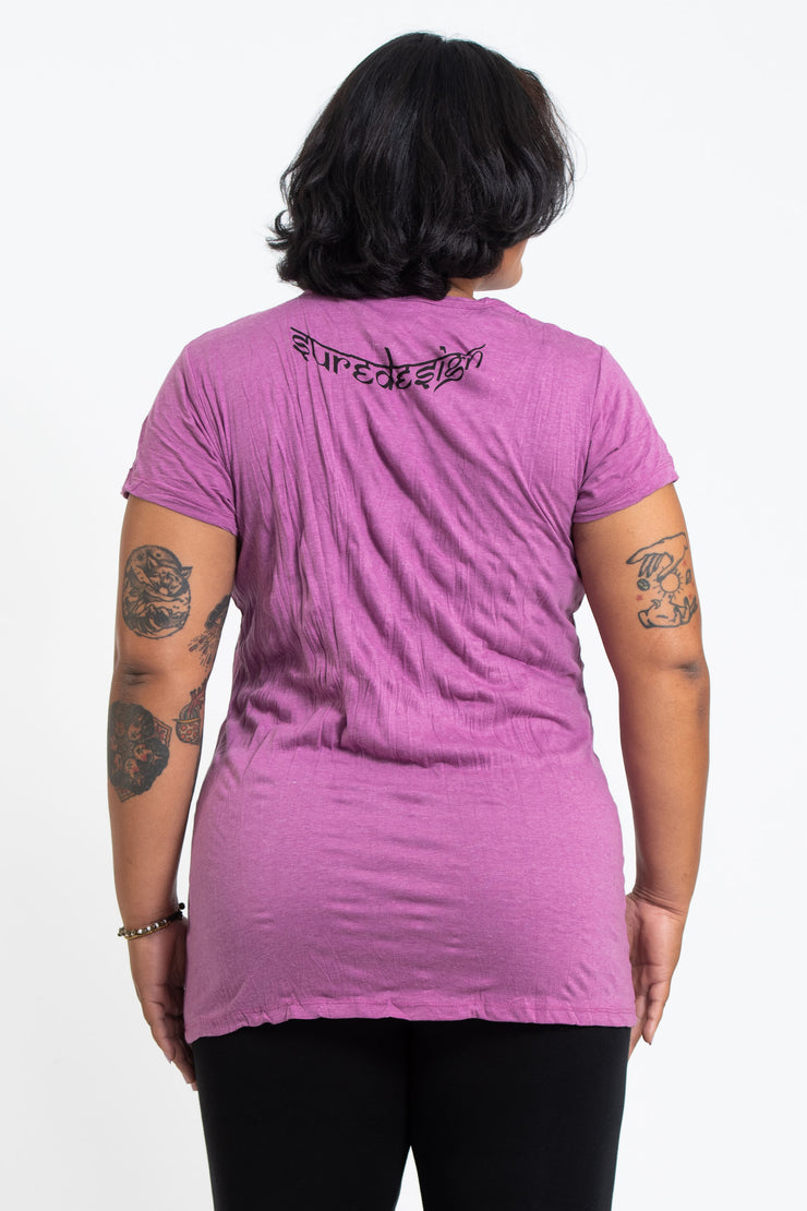 Plus Size Womens Weed Owl T-Shirt in Pink