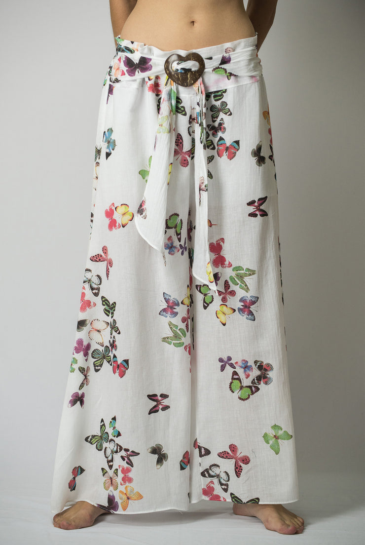 Womens Butterfly Palazzo Pants in Pink