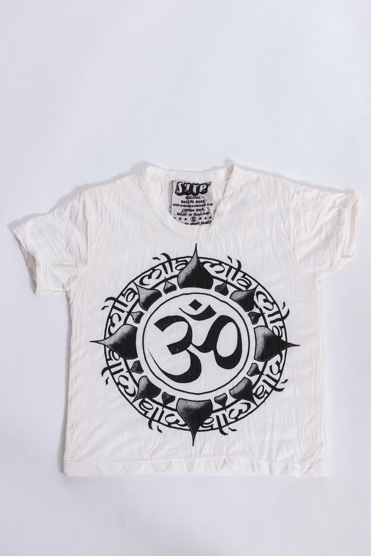 Kids Infinitee Om T-Shirt in White