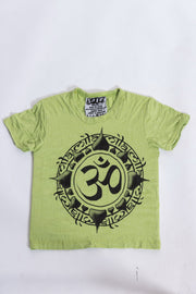 Kids Infinitee Om T-Shirt in Lime