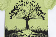 Kids Tree of Life T-Shirt in Lime