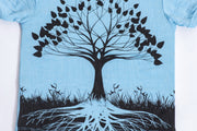 Kids Tree of Life T-Shirt in Light Blue