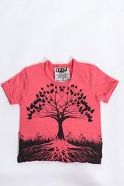 Kids Tree of Life T-Shirt in Red