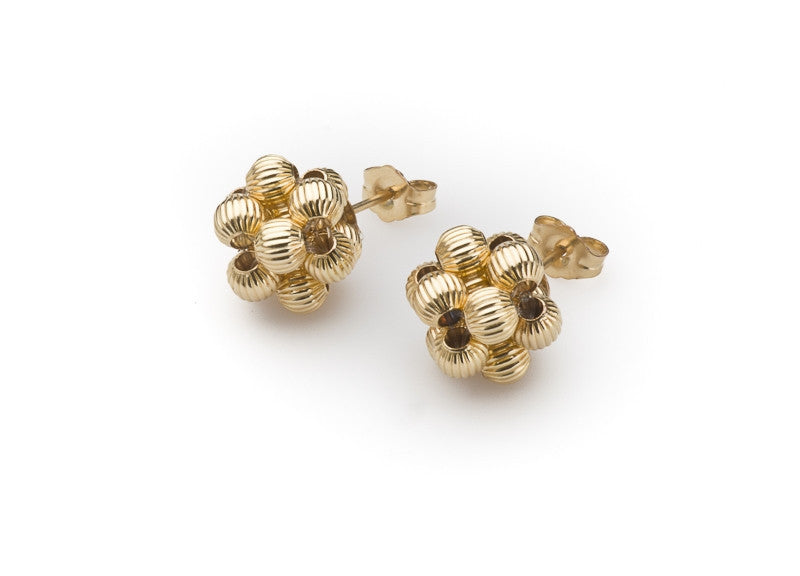14k Gold-Filled Corrugated Bead Cluster
