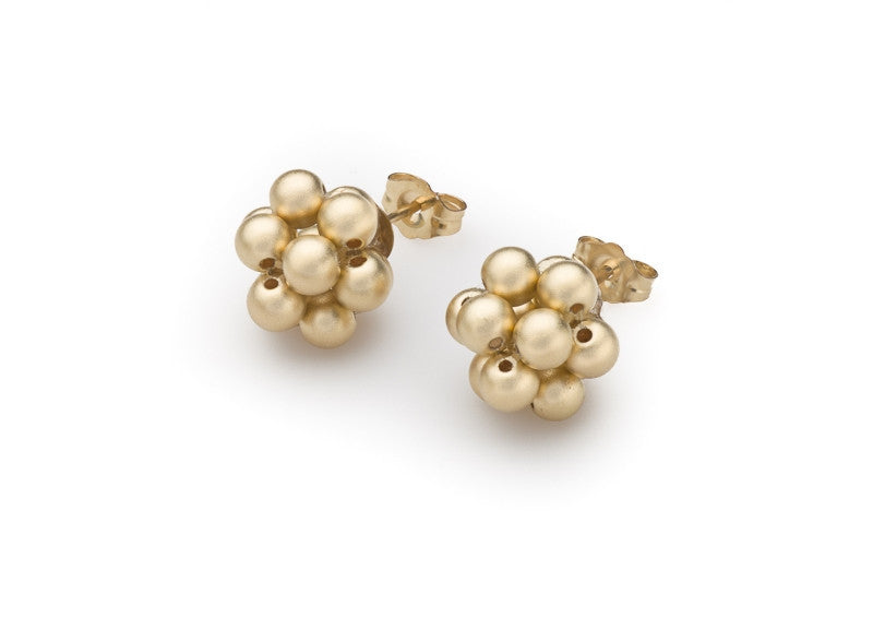 14k Gold-Filled Satin-Finished Bead Cluster