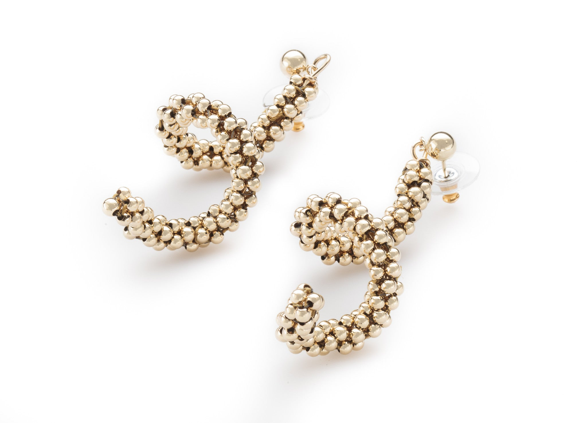 Corkscrew Earrings, Gold (Click to View All)