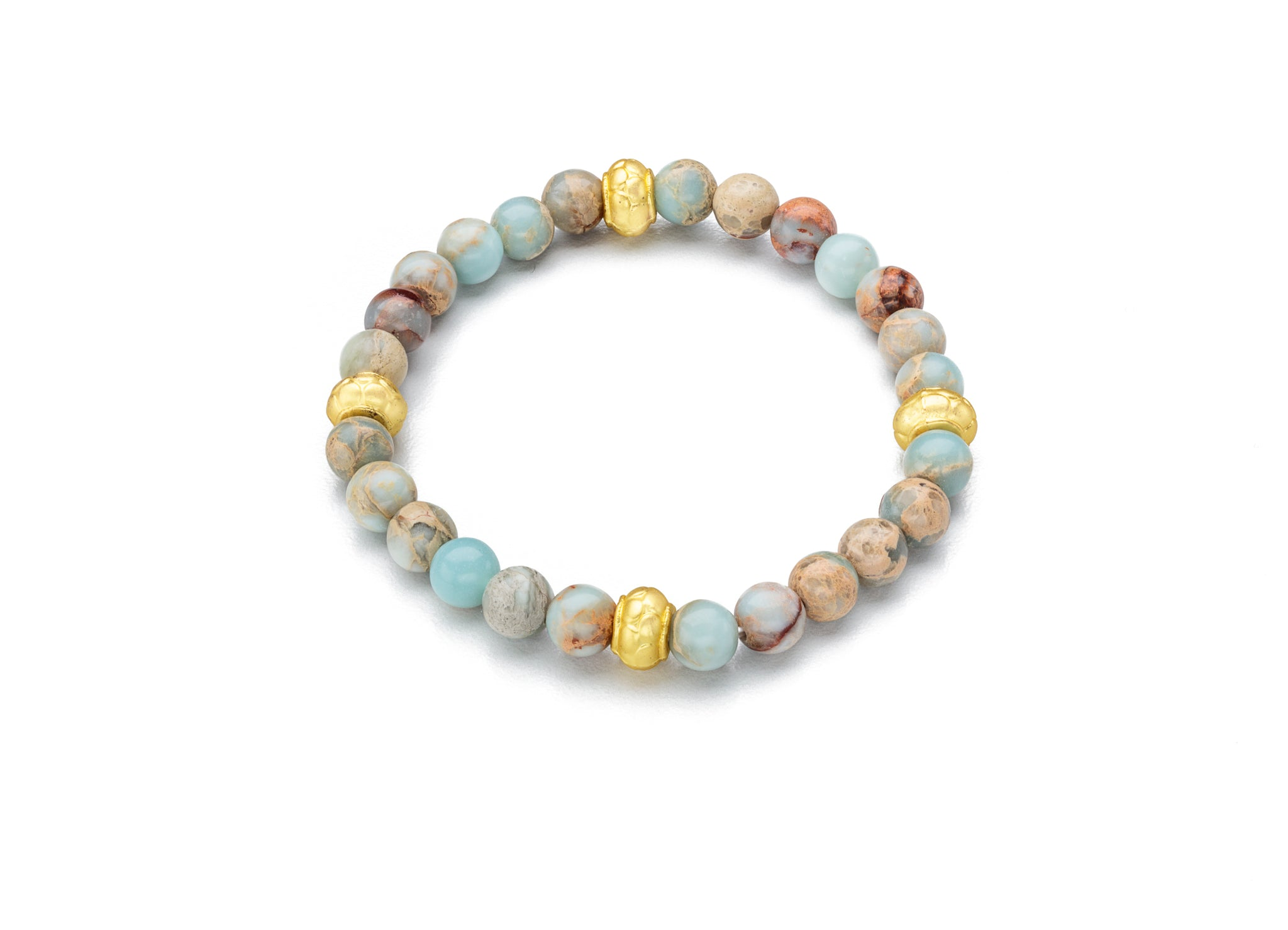 aqua terra jasper w/ gold spacers