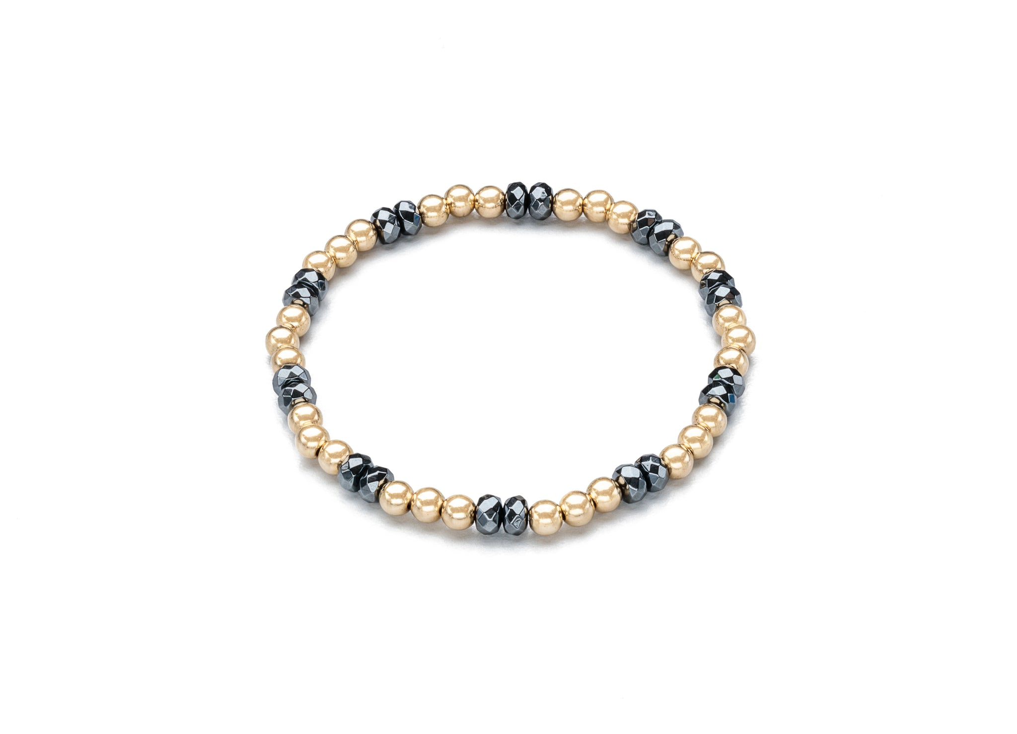 Cord Bracelets, Hematite and Gold (Click to View All)