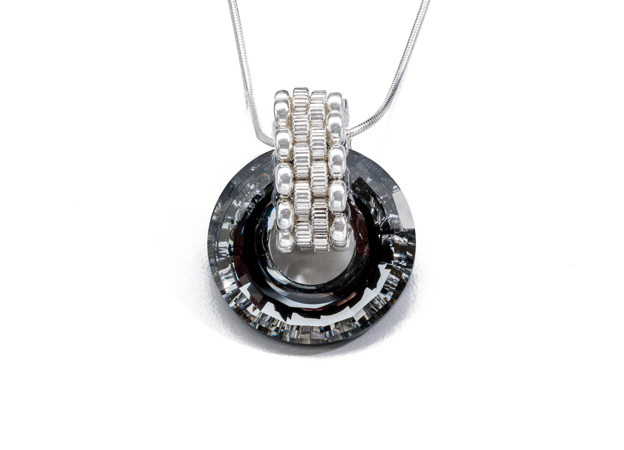 Swarovski Crystal Necklace, Silver (Click To View All)