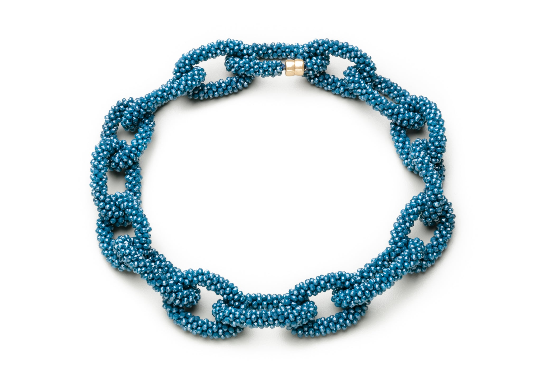 A Caribbean Blue Crystal Linkable Necklace