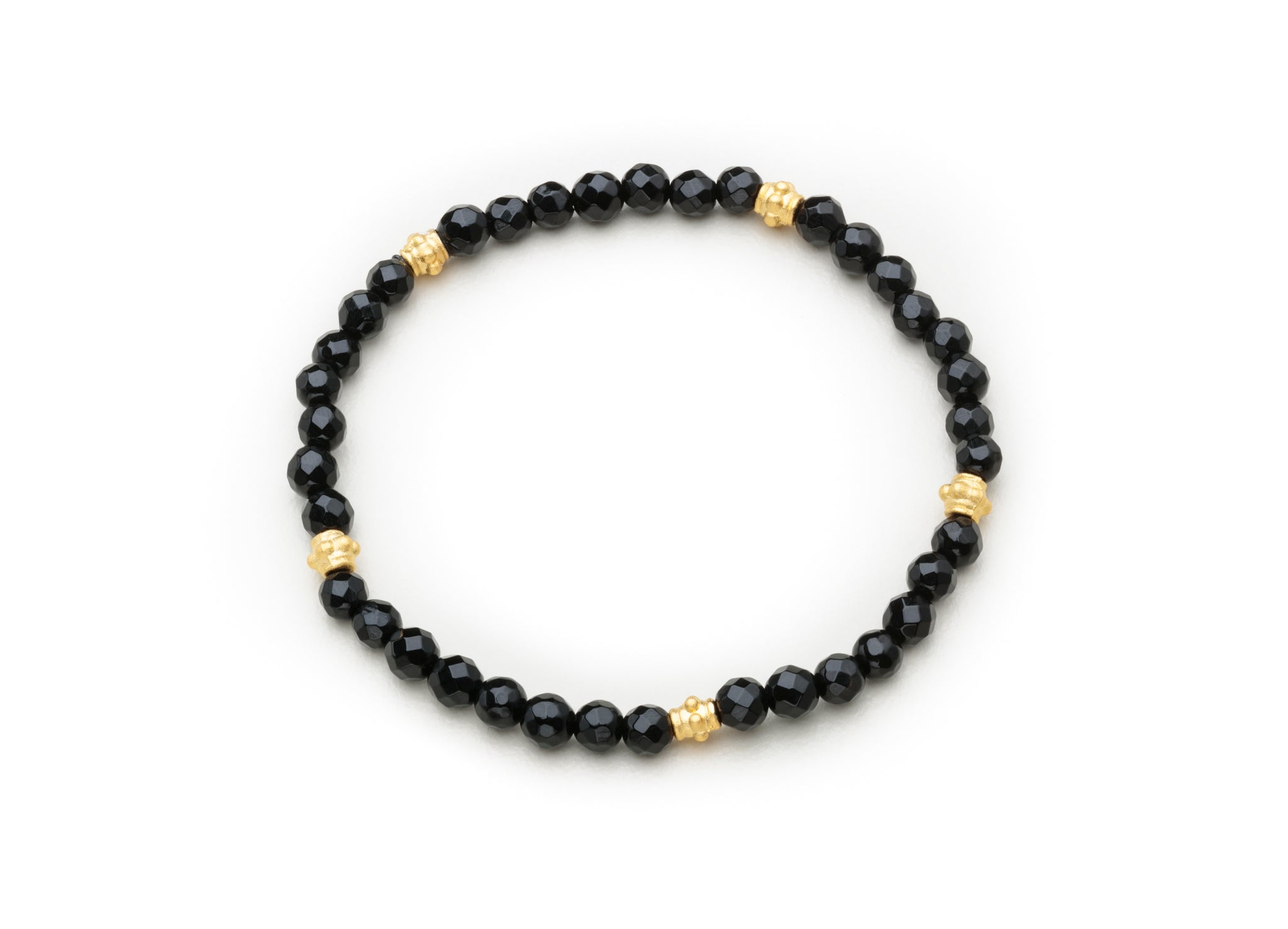 Onyx w/gold beaded spacers