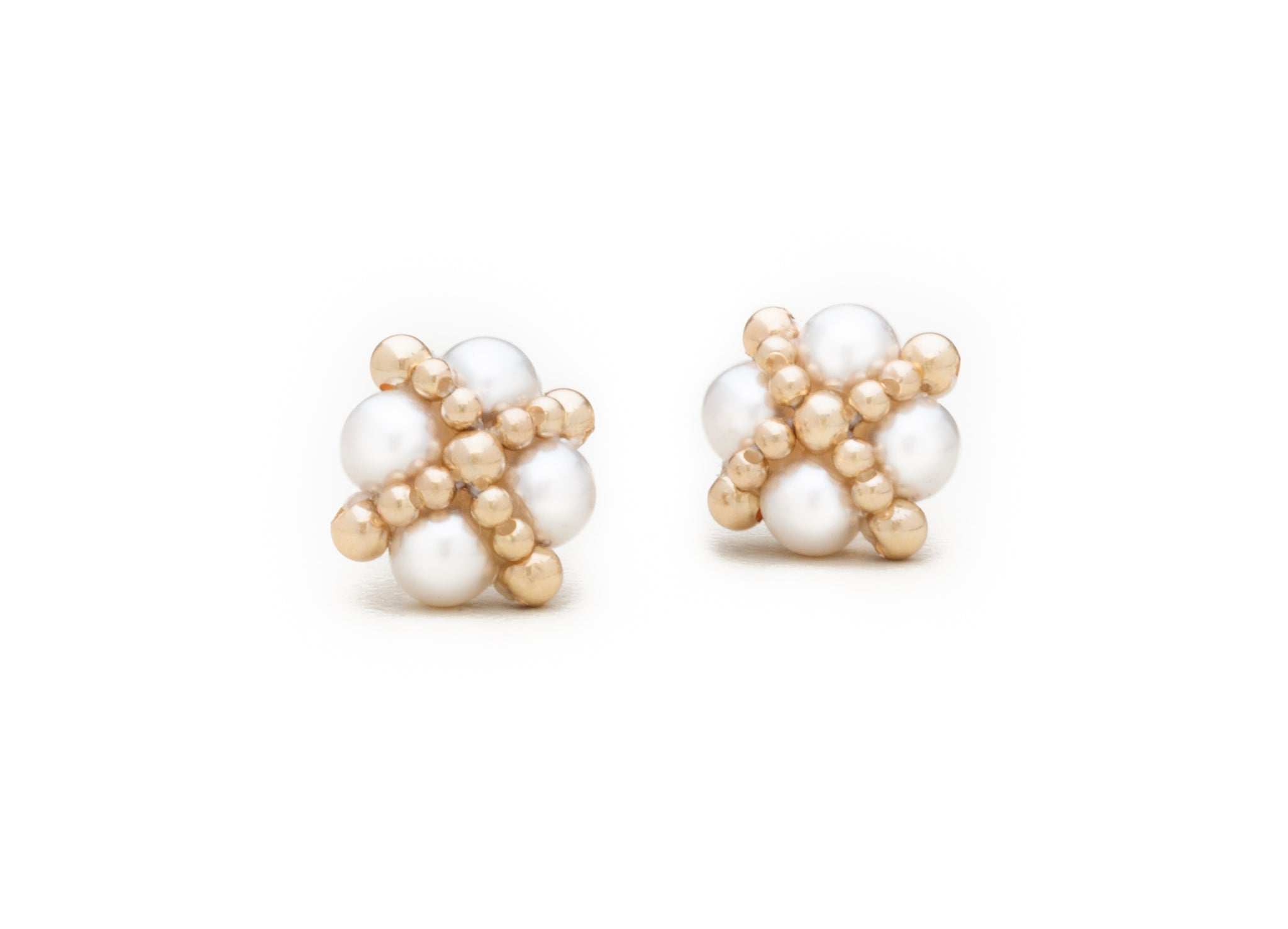 Clover Studs, Pearl