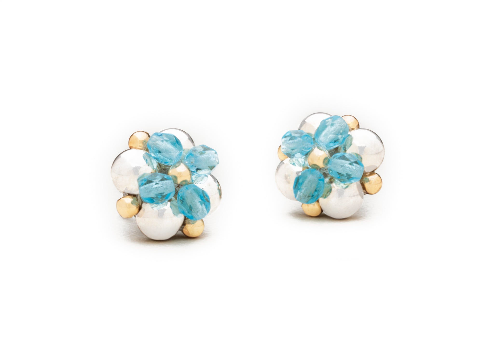 Floret Studs, Czech Glass