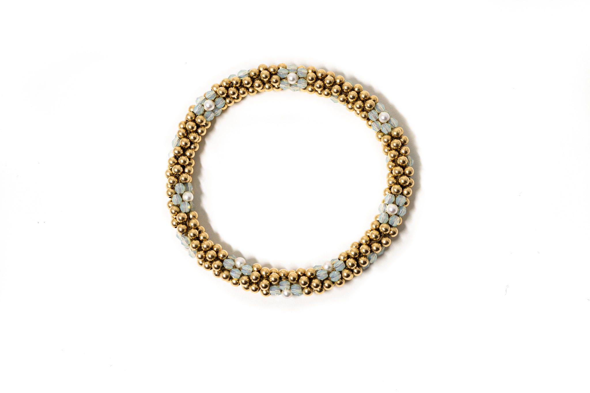 3mm Cluster Bracelets, Gold and Silver Floret Design (Click to View All)