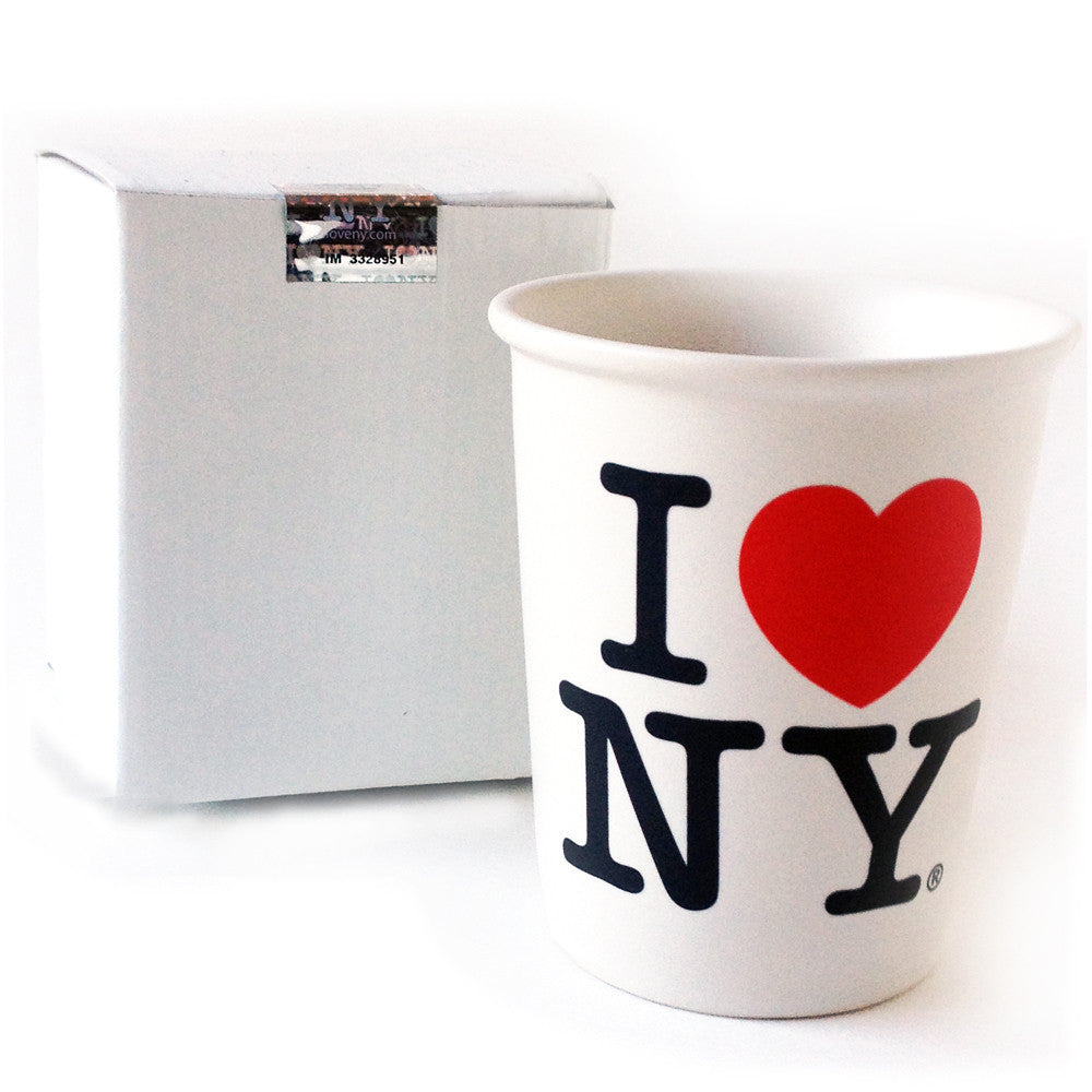 I Love Ny Ceramic Cup Paper Like We Are Happy To Serve You