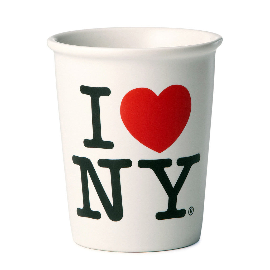 I LOVE NY Ceramic Cup Paper Like