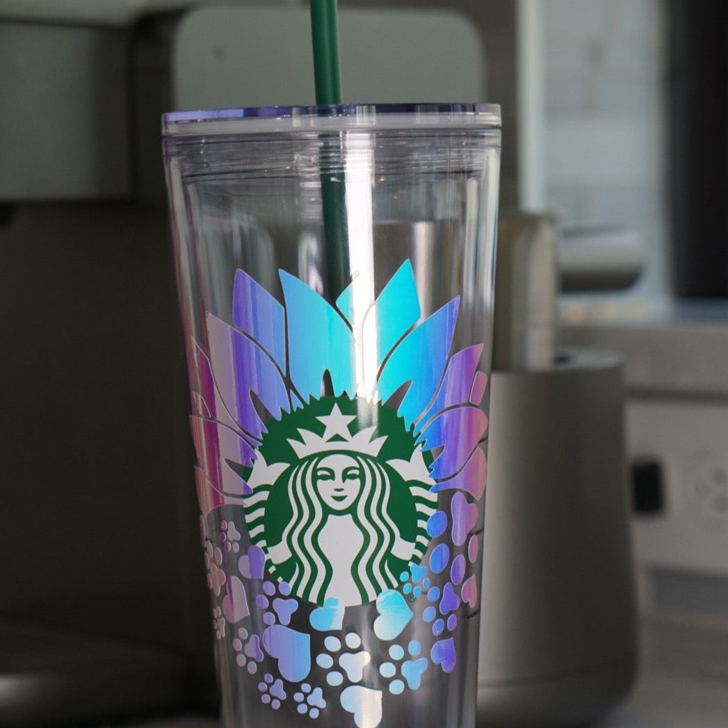 Personalized Starbucks Holographic Drink Bottle