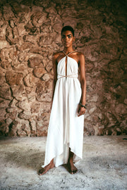 Caravana - YATZIL (Long cotton dress with leather straps)