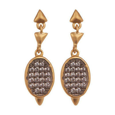 Image of Contemporary Deco Marquee Drop Earrings by Freida Rothman