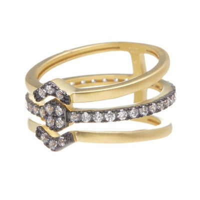 Image of Contemporary Deco Triple Ring by Freida Rothman